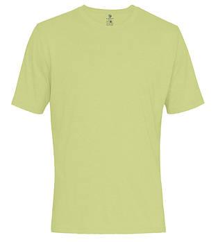 Футболка однотонная мужская, цвет бледно салатовый, круглая горловина