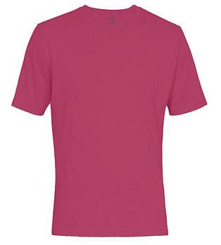 Футболка однотонна чоловіча, колір темний рожевий, кругла горловина