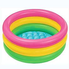 """Детский надувной бассейн Intex 57107, """"радуга"""", 61х22см"""