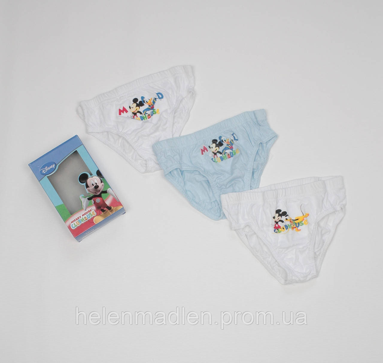 Disney трусики мальчику детские Дисней Микки Маус хлопок 8-9 лет комплект