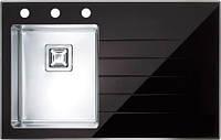 Кухонная мойка Alveus Crystalix 10L черное стекло 1070309