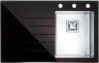 Кухонная мойка Alveus Crystalix 10R черное стекло 1070312