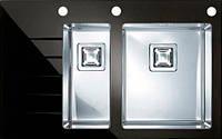 Кухонная мойка Alveus Crystalix 20R черное стекло 1070316