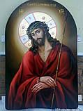 Храмова ікона спасителя в терновому вінці 80*60 см, фото 2