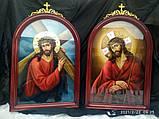 Храмова ікона спасителя в терновому вінці 80*60 см, фото 3