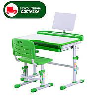 Комплект парта +стул. Столешница 80см + подставка для книг. Растущая детская парта трансформер