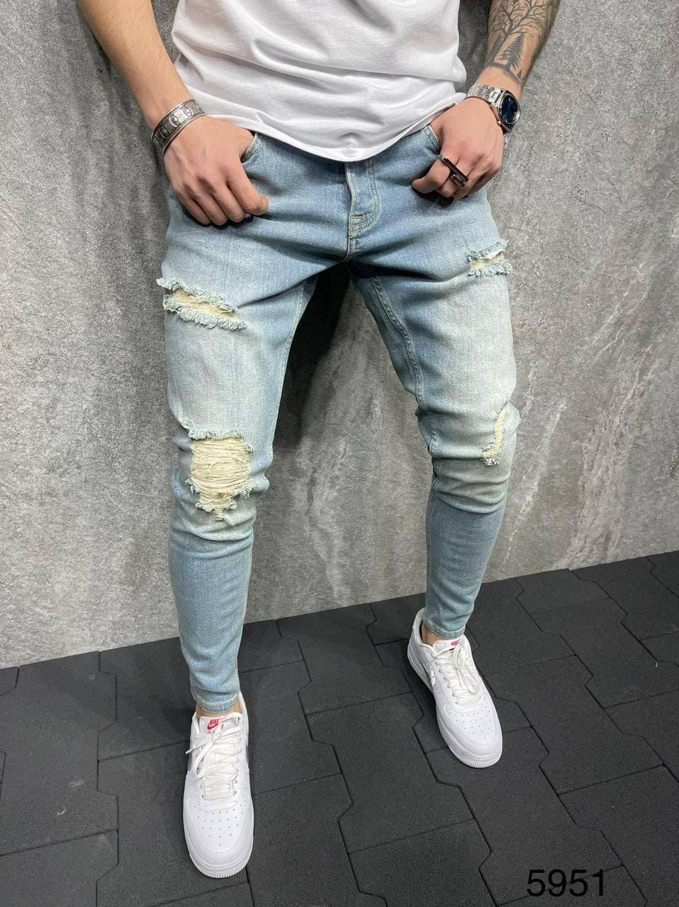 Чоловічі джинси рвані 2Y Premium 5951 tint