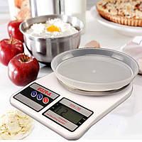 Весы кухонные электронные настольные A-PLUS до 10 кг для кухни с чашей