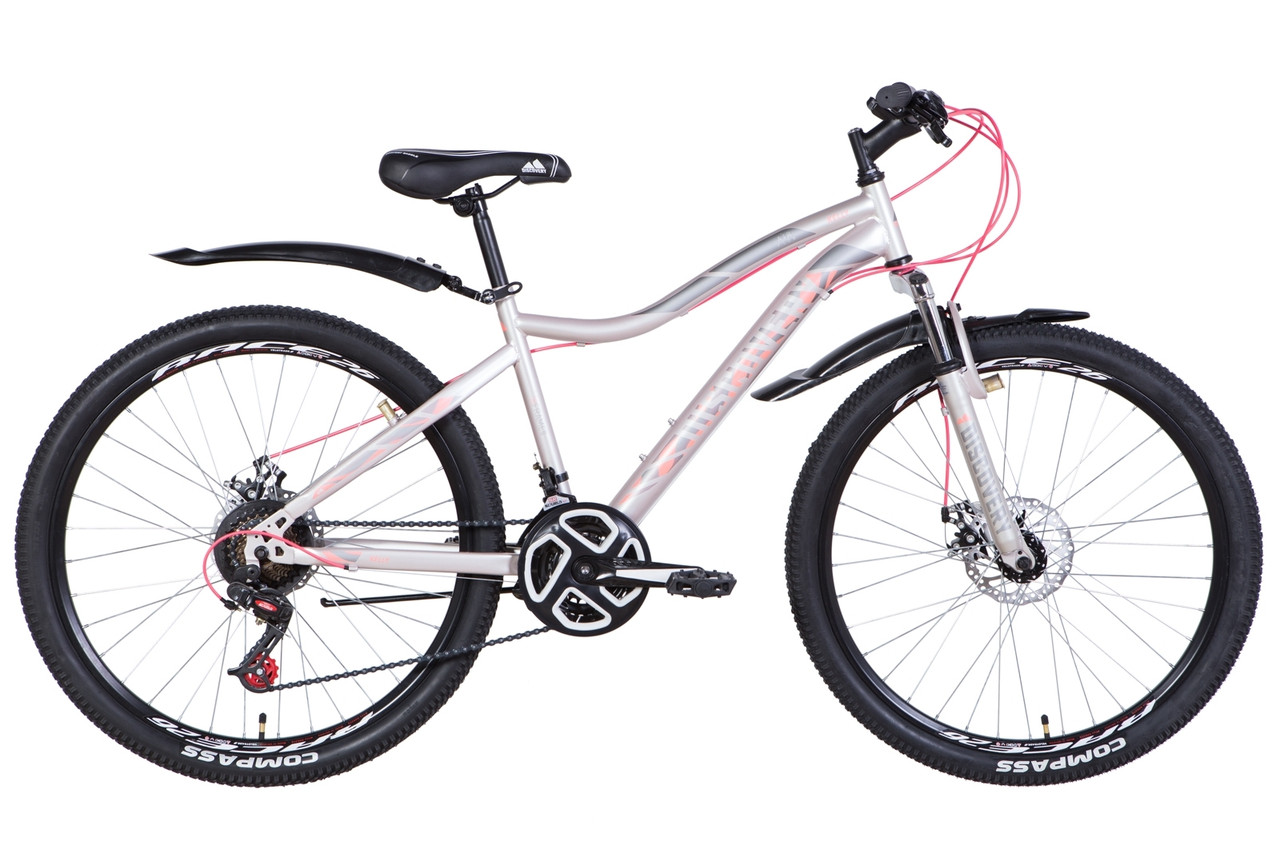 "Велосипед 26"" Discovery KELLY DD 2021 (бело-синий с желтым)"