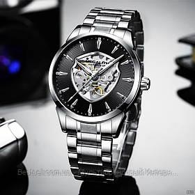 Часы оригинальные мужские наручные механические с автоподзаводом Megalith 8210M All Black