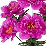 Штучні квіти букет півонії Клас, 43см, фото 2