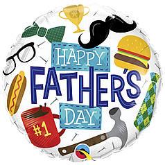 "Круг 18"" QUALATEX-КВ Happy Father's Day (УП)"