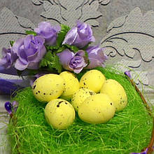 Яйцо перепелиное, 2,5 х 2 см, пенопласт, цвет желтый, 3 шт.
