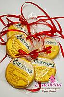 Корпоративный подарочный медовый имбирный пряник - медаль с логотипом компании