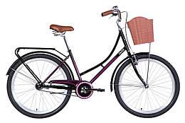 """Велосипед 26"""" Dorozhnik JADE 2021 (черно-розовый)"""