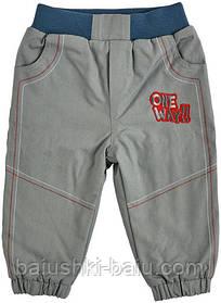 Детские штаны на флисе для мальчика