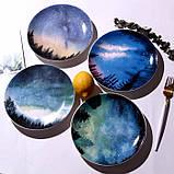 Керамічна тарілка зоряне небо 20 см, фото 7