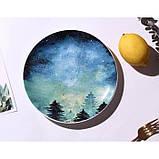Керамічна тарілка зоряне небо 20 см, фото 10