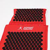 Массажный коврик Аппликатор Кузнецова + массажная подушка массажер для шеи OSPORT Lotus Mat Eco (apl-020), фото 2