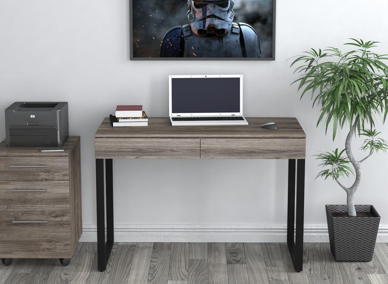 Письменный стол Loft Design L-11 Дуб Палена каркас черный