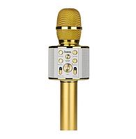 Караоке микрофон портативный Hoco BK3 Gold