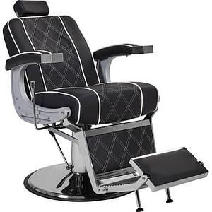 Кресло Barber Парикмахерское большое мужское кресло с рычагом управления Valencia Люкс