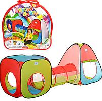 Палатка детская игровая с тоннелем 4 входа Bambi M 2958 Multicolor