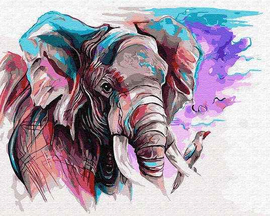 Слон акварелью, фото 2