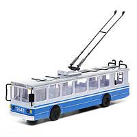 Модель Технопарк Троллейбус большой со светом и звуком