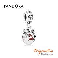 Pandora шарм-подвеска ЛЕСНОЙ ОЛЕНЬ 791768EN07 серебро 925 эмаль Пандора оригинал