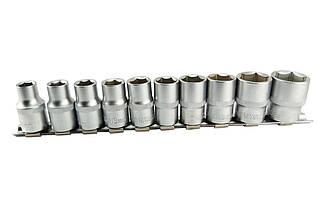 """Набір головок шестигранних 1/2"""" Сила - 10 шт. (10-24 мм) (251210), (Оригінал)"""