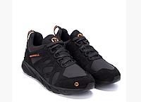 Мужские кожаные кроссовки MERRELL black черные, фото 1