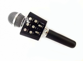 Беспроводной Bluetooth микрофон-караоке Wster WS1688 Black