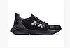 Мужские кожаные кроссовки New Balance black черные