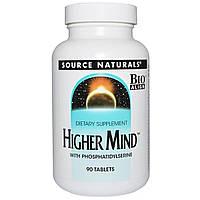 Улучшение Работы Мозга, Higher Mind, Source Naturals, 90 таблеток