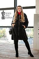Женское пальто- кардиган из шерсти Альпака  р.46-54, фото 1