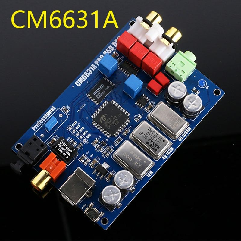 CM6631A + ES9023 ЦАП DAC USB внешняя звуковая карта 32bit 24bit 192К