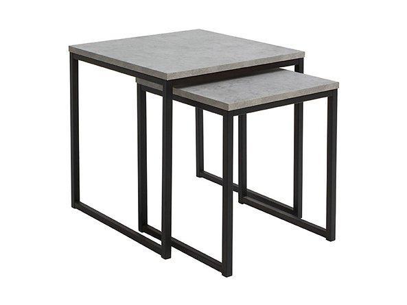 Комплект журнальных столиков LAW/40+LAW/50 AROZ BRW светло-серый/черный