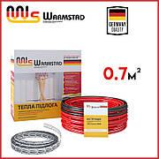 Тепла підлога кабельна 0.7м² (100Вт) Warmstad WSS-100 (7 м/п)