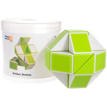 Головоломка Змійка Розумний кубик біло-зелена