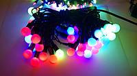 Гирлянда шарики 50 LED ёлочная новогодняя гирлянда