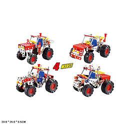 Конструктор Трактор, 4 в 1, 160 деталей, 898E-7