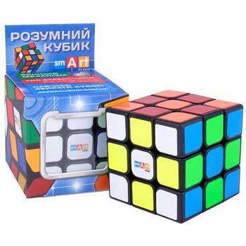 Головоломка Розумний Кубик 3х3х3 яскрави наліпки