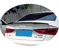 Спойлер багажника з вирізом ( шабля, лип спойлер ) Audi A3 седан 2013+ р. в. стиль M4