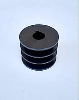 Шкив на вал 25,4 мм 76 мм 3 - ручья профиль Б
