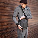 Сумка мужская через плечо черная барсетка 096В, фото 3