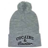 Стильная женская шапка Cocaine серая