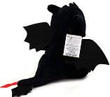 Мягкая игрушка фурия дракон черный арт. 00688-1, 30 см, фото 4