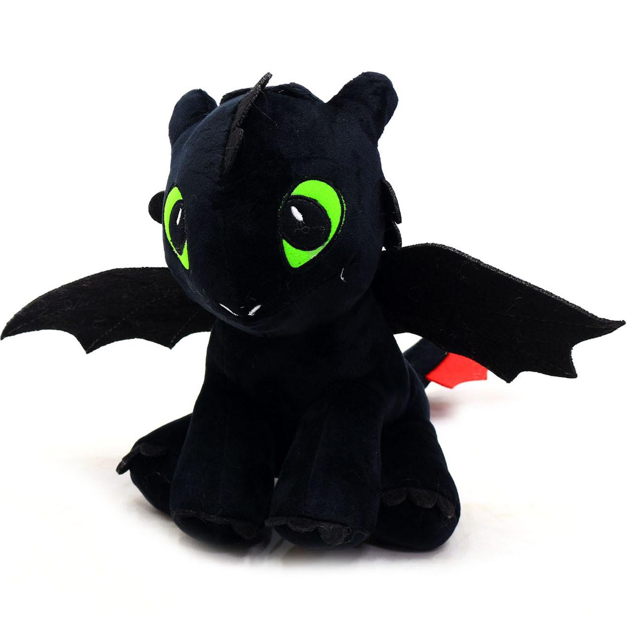 Мягкая игрушка фурия дракон черный арт. 00688-1, 30 см