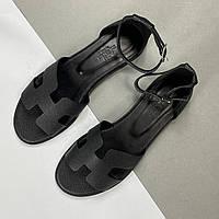Шкіряні жіночі сандалі Hermès